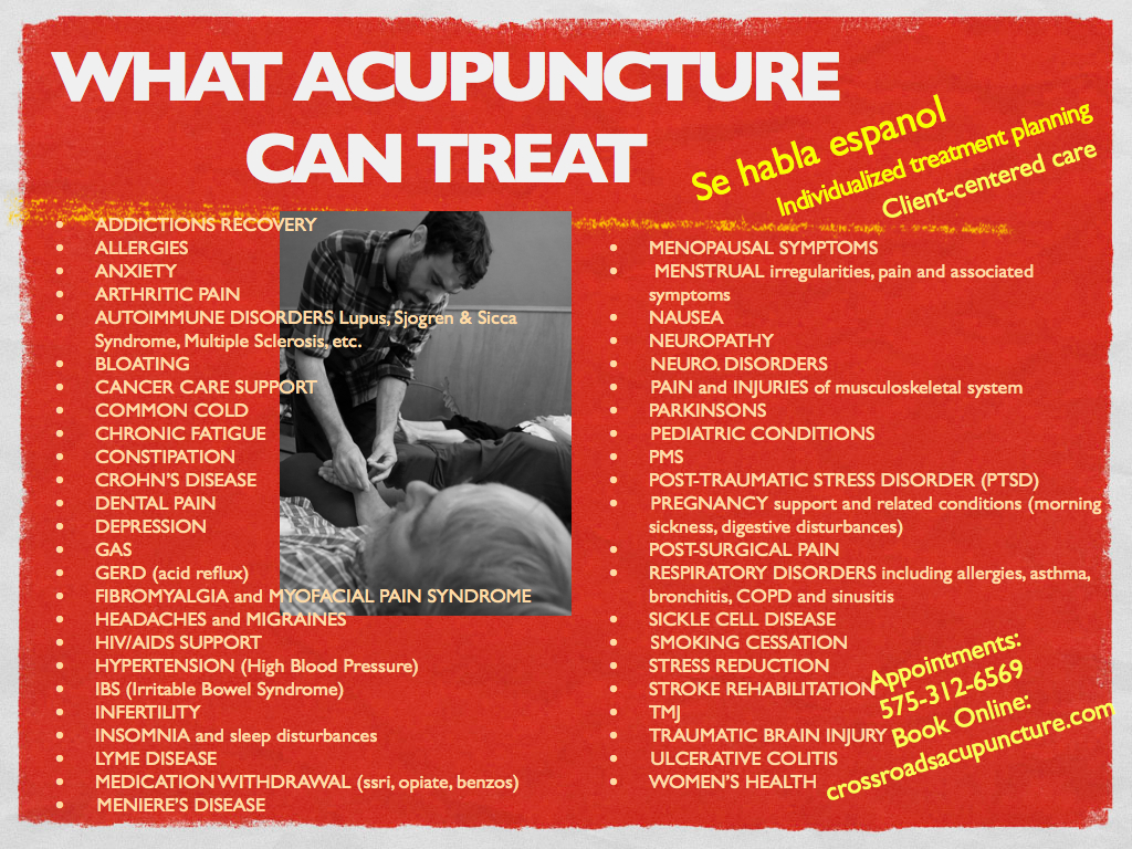 What we treat | Community Acupuncture for the Las Cruces and El Paso
